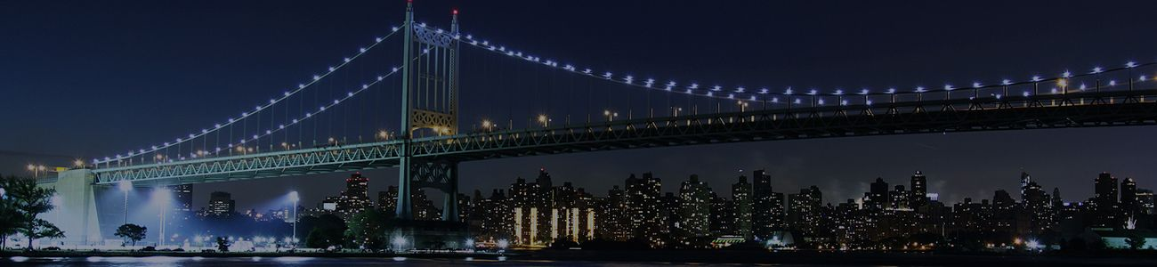 A Night Bridge View in Yonkers, New York